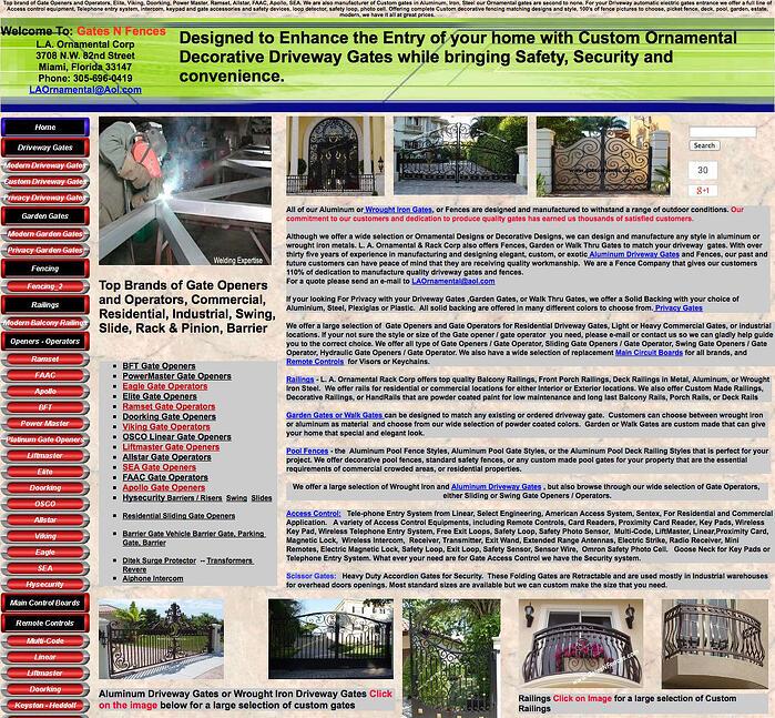 GatesnFences - Bad Use of White Space on Websites