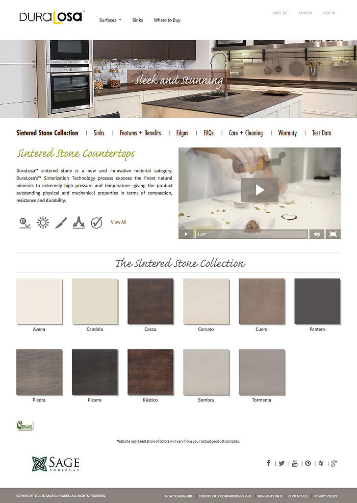 Sage Surfaces - Good Use of White Space on Websites