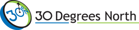 30 Degrees North Logo